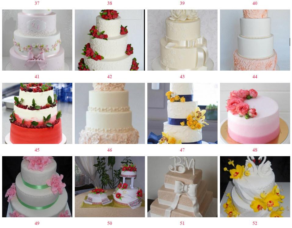 заказать свадебный торт