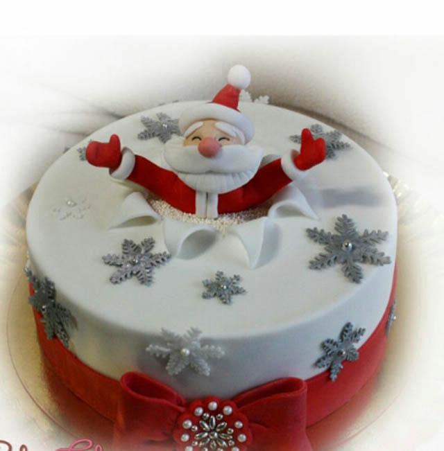 Новорічний торт фото