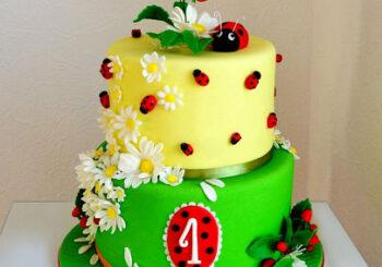 Торт на годик для девочки и мальчика