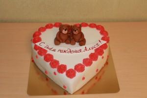 Торт сердце, фото 09